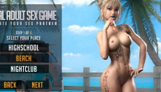 3D Fuck Doll game with tattoo beach girls