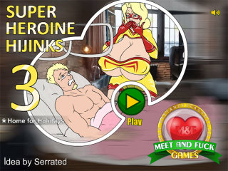 MeetNFuck mobile game free Super Heroine Hijinks 3 Home for Holidays