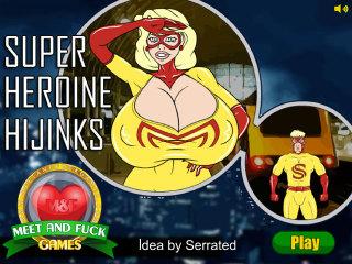 Meet N Fuck mobile game Super Heroine Hijinks