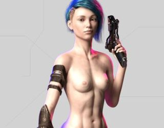 CyberSlut2069 porn game online with cyber sluts fuck